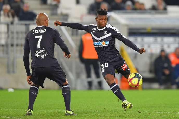 L'attaquant nigérian de Bordeaux, Samuel Kalu, lors du match de Ligue1 entre Bordeaux et Dijon, le 20janvier 2019, à Bordeaux.