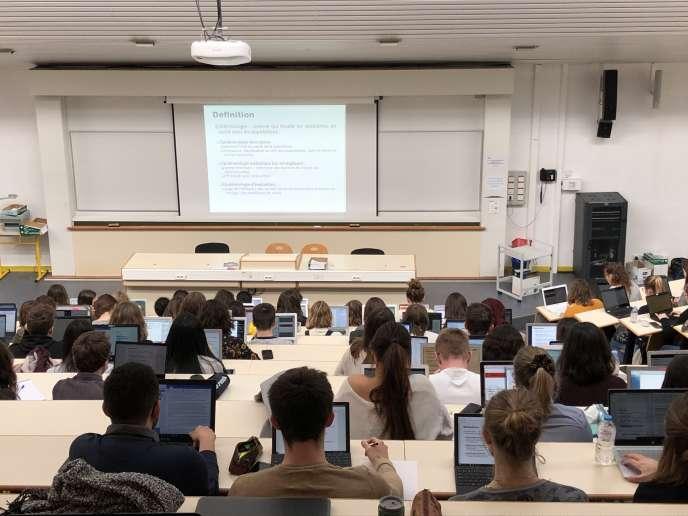 Etudiants de l'antenne délocalisée de Paces à l'université du Havre, le 27 février 2019.