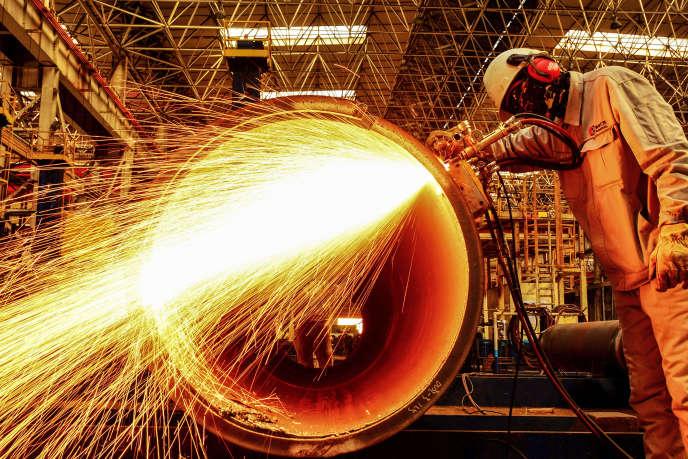 Une usine de métallurgie à Qingdao, dans l'est de la Chine, le 28 février.