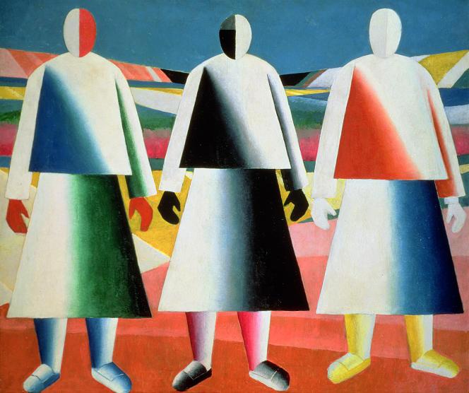 «Jeunes filles dans un champ», de Kazimir Malevitch (1928-1932). Musée d'Etat russe, Saint-Pétersbourg.
