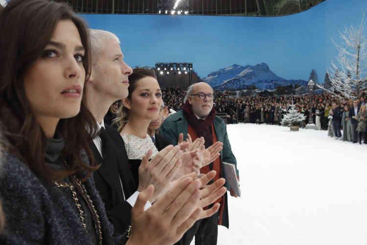 Au premier rang, les actrices Marion Cotillard et Alma Jodorowsky, avec le ministre de la culture, Franck Riester.