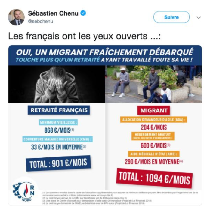 «Migrants contre retraités»: le théâtre des intox deMarine Le Pen et ses cadres