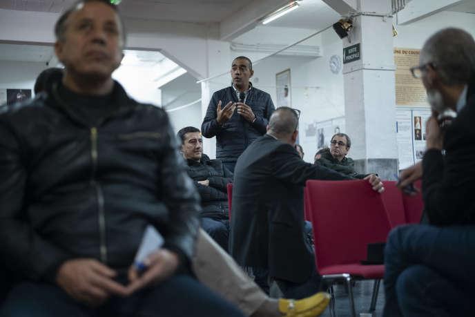 Le député(LRM)de la 7e circonscription de Marseille, SaïdAhamadaau débat organisé dans une salle de la mosquée El-Islahde Marseille, le 4 mars.