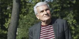L'écrivain Jean-Pierre Martin, en 2018, à Lyon.