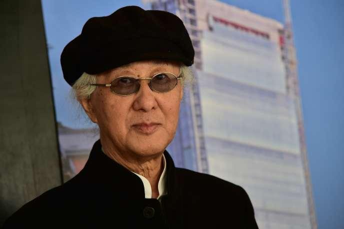 L'architecte japonais Arata Isozaki lors d'une conférence de presse à Milan, en octobre 2014.
