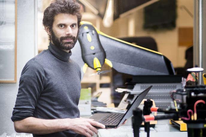 Yves Ubelmann, dans les locaux de sa start-up Iconem, en 2016.