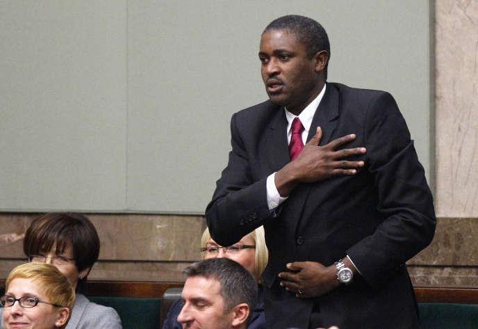Le député polonais d'origine zambienne Killion Munyama au Parlement, à Varsovie, en novembre 2011.