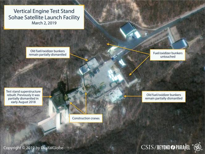 Images satellites de la base de lancement.