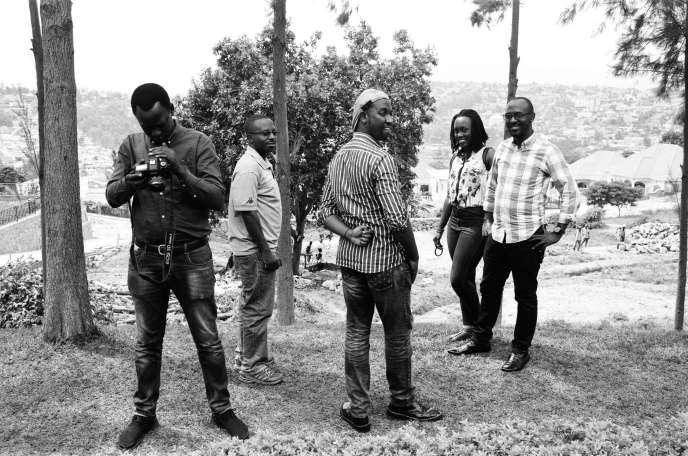 Des journalistes burundais issus de plusieurs médias en exil installés à Kigali, la capitale du Rwanda en janvier 2019.