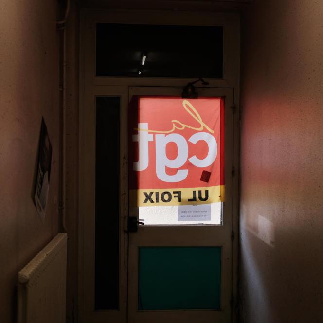 L'Union locale de la CGT à Foix (Ariège), lundi 18 février.