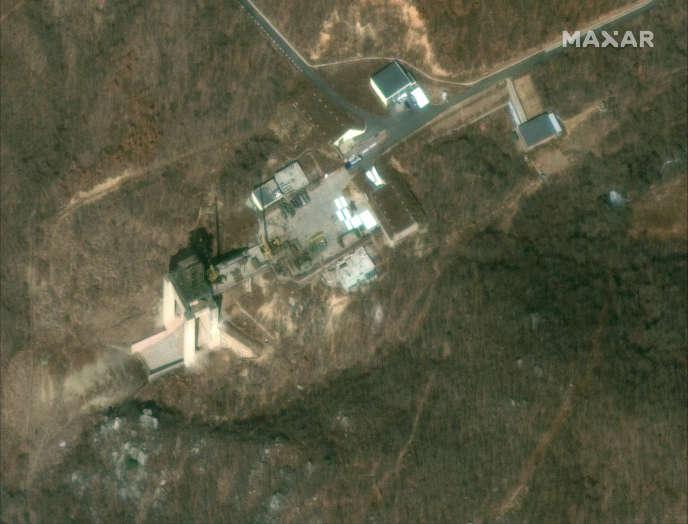 Vue satellite du site deTongchang-ri, en Corée du Nord, le 2 mars.