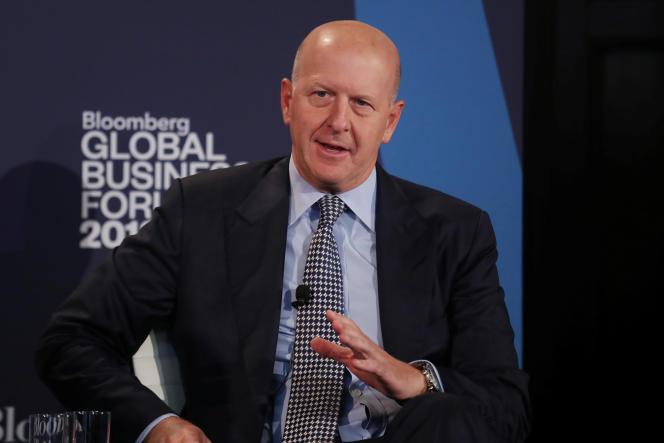 Le nouveau directeur général de Goldman Sachs, David Solomon, à New York, fin septembre 2018.