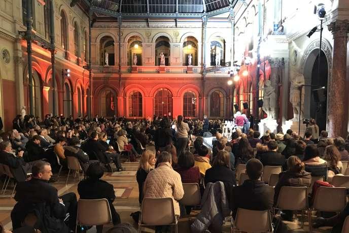 Le premier grand débat sur la culture aux Beaux-Arts de Paris, le 5 mars 2019.