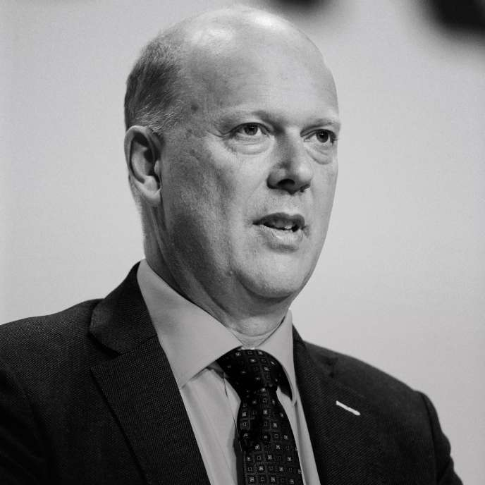 Chris Grayling, ministre britannique des transports, en octobre 2018.