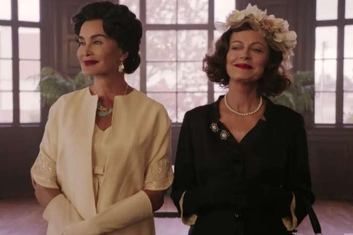 Joan Crawford (Jessica Lange) et Bette Davis (Susan Sarandon) dans la série « Feud : Bette and Joan », sur Canal+.