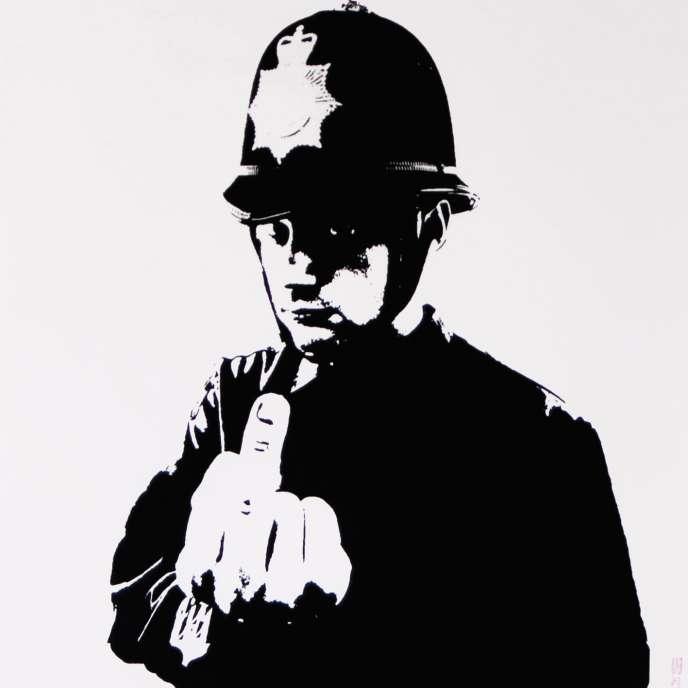 «Rude Copper», réalisé par Banksy en 2002.