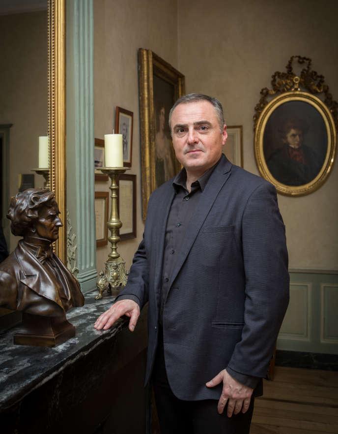 Bruno Messina, directeur du Festival Berlioz, dans la maison natale d'Hector Berlioz, à La Côte-Saint-André (Isère), le 4 mars.