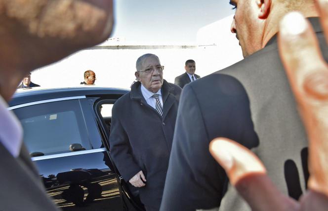 Le chef d'état-major, Gaïd Salah, le 6 février à Alger.