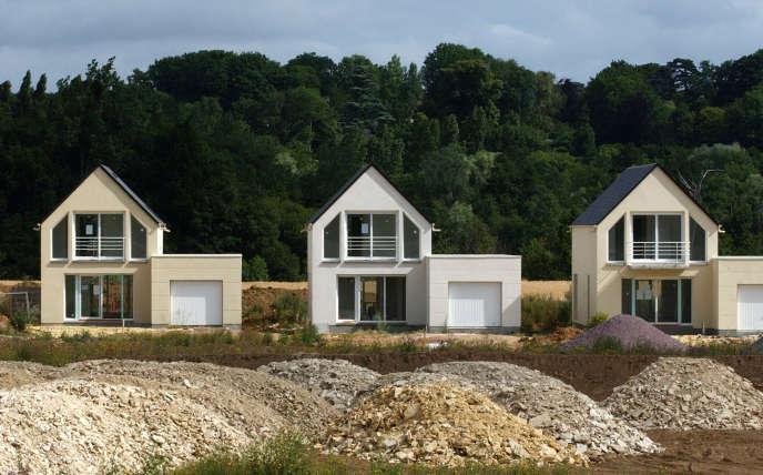 Un lotissement nouvellement construit, en 2005, à Louvigny, près de Caen.