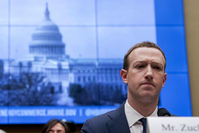 Mark Zuckerberg s'explique devant le Congrès américain, en avril2018.