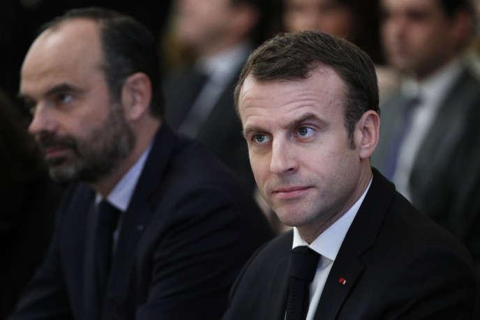 Edouard Philippe, premier ministre, et Emmanuel Macron, à l'Elysée, le 10 décembre 2018.