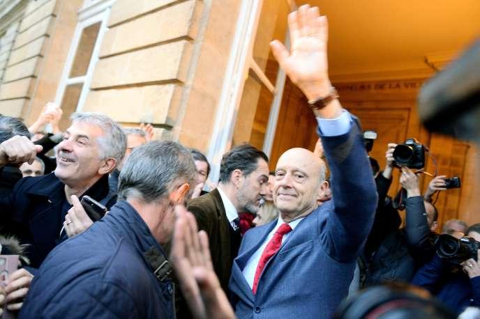 Alain Juppé fait ses adieux à la mairie de Bordeaux, le 7mars.
