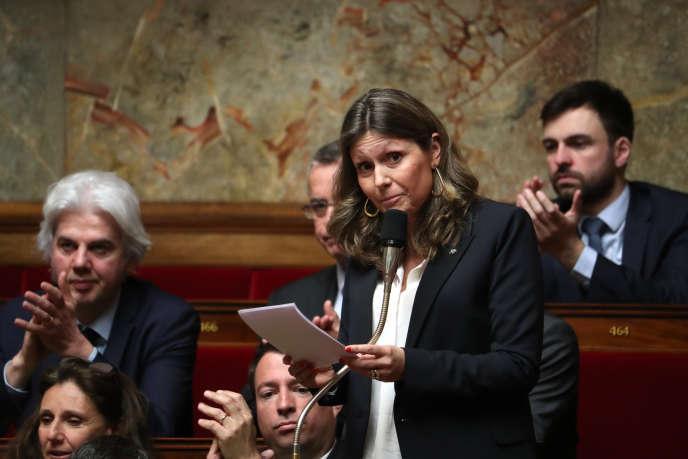 La députée (LRM) Yaël Braun-Pivet lors d'une séance de questions au gouvernement à l'Assemblée nationale, mercredi 6 mars 2019.