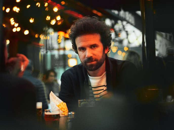 Cyril Dion, à la terrasse du café Le Hibou, à Paris, le 22 février.