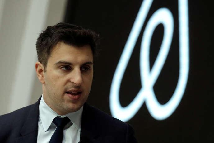 Le cofondateur d'Airbnb, Brian Chesky, à New York, en mars 2017.