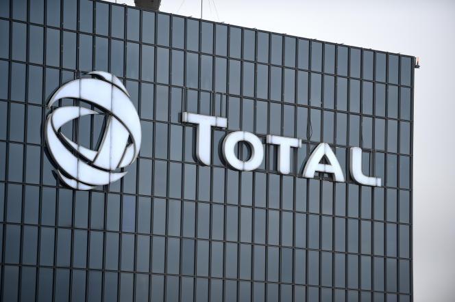 Au siège de Total, à la défense, près de Paris, en janvier 2018.