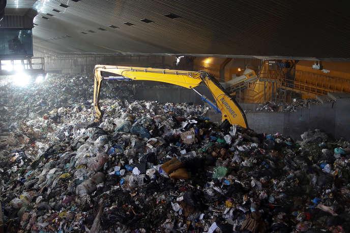 Centre de traitement à Rome, en 2013 :l'agglomération produit environ 5000 tonnes de déchets par jour.