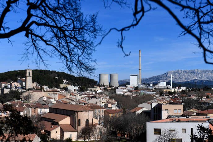 La centrale thermique de Provence, à Gardanne (Bouches-du-Rhône), le 18 janvier.