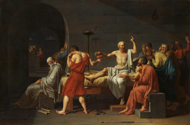 La Mort de Socrate, par Jacques-Louis David (1787).