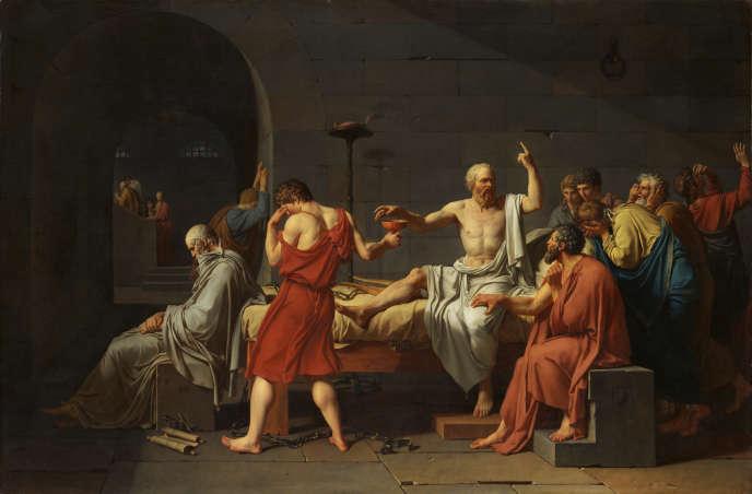 La Mort de Socrate, parJacques-Louis David(1787).