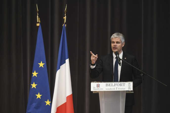 Laurent Wauquiez en meeting à Belfort, le 1er février.