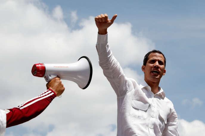 « Il apparaît pour le moins improbable que les Etats membres du Conseil de sécurité parviennent, à moyen terme, au consensus sur une sortie de crise au Venezuela. » (Photo: Juan Guaido, le 9 mars.)