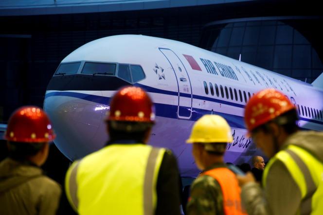 Lors de la livraison du Boeing 737 MAX 8 à la compagnie Air China, le 15 décembre 2018 dans la province de Zhejiang.