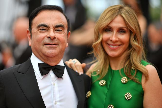 Carlos Ghosn et sa femme Carole, en 2017.