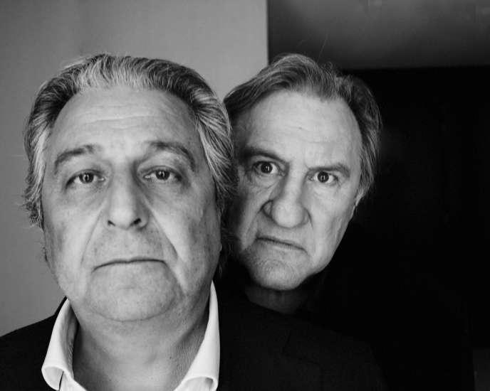 Christian Clavier et Gérard Depardieu,à Paris, le 7 mars.