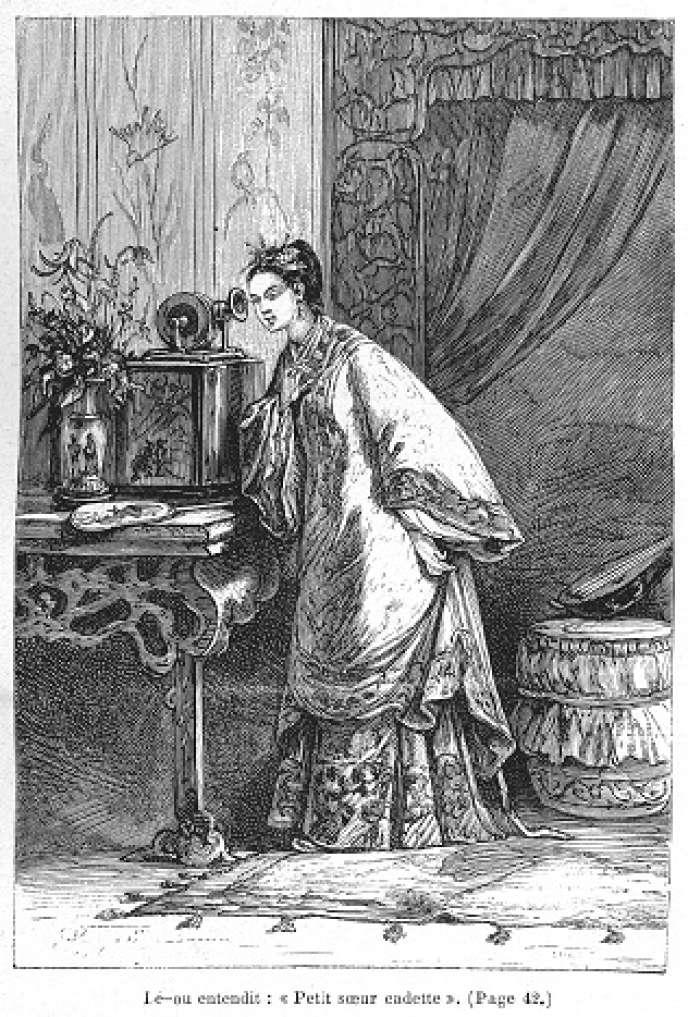 Illustration deLéon Benett pour « Les Tribulations d'un Chinois en Chine », de Jules Verne (1879).