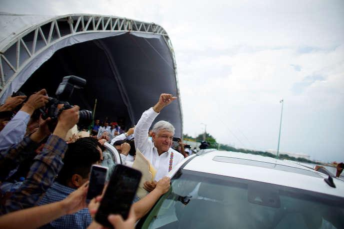 Le président mexicain, Andres Manuel Lopez Obrador, le 9 décembre 2018, à Paraiso, dans le sud-est du pays.