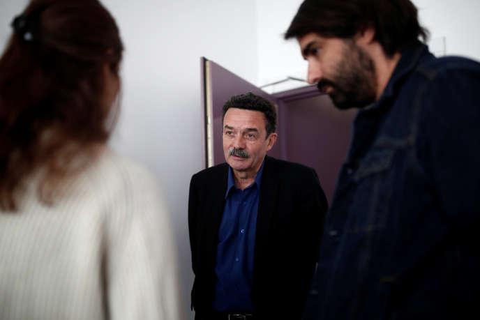 Edwy Plenel dans les locaux de «Mediapart», à Paris, le 12 mars 2019.