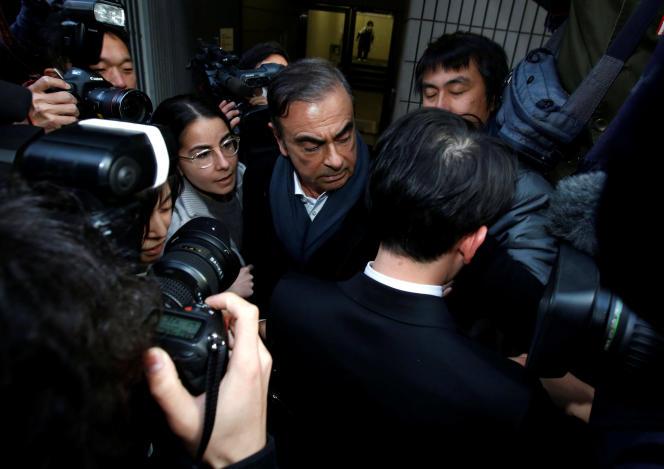 Carlos Ghosn à Tokyo, le 12 mars.