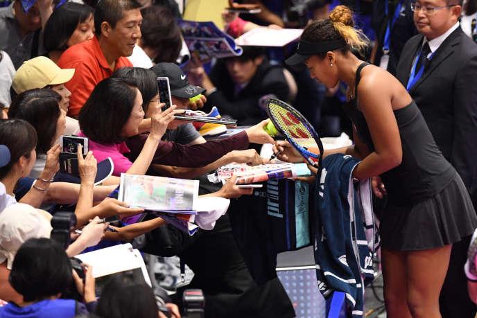 Naomi Osaka, lors du tournoi de Tokyo, le 21 septembre 2018.
