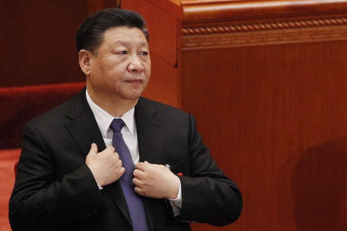 Le président chinois Xi Xinping, au Parlement chinois, à Pékin, le 12 mars 2019.