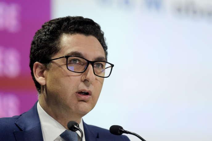 Le directeur général de Canal+, Maxime Saada, à Paris, en avril 2018.