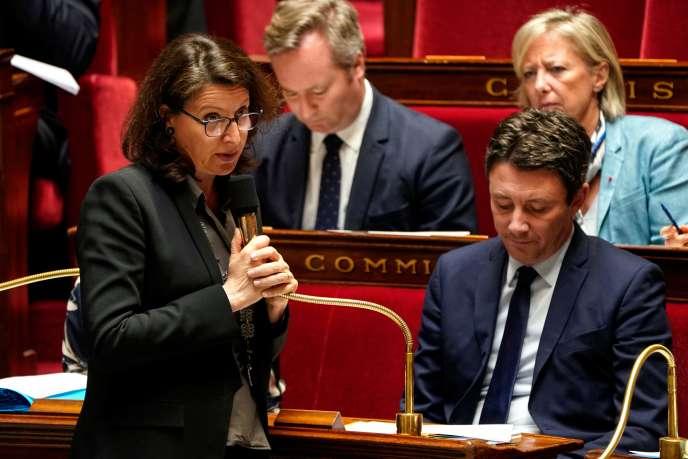 La ministre des solidarités et de la santé, Agnès Buzyn, lors d'une séance de questions au gouvernement à l'Assemblée nationale,le 12mars2019.