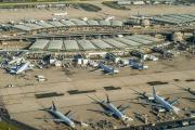 Vue aérienne de l'aéroport de Paris-Charles-de-Gaulle, à Roissy.