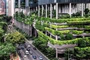 L'hôtel Parkroyal on Pickering, à Singapour.