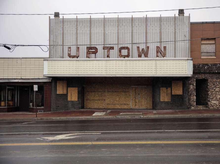 A Youngstown, dans l'Ohio.La ville est marquée parle déclin dela sidérurgie.